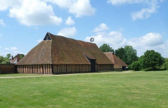 Cressing Temple Barns near Witham, Essex, UK. Copyright Protected for this Blog.